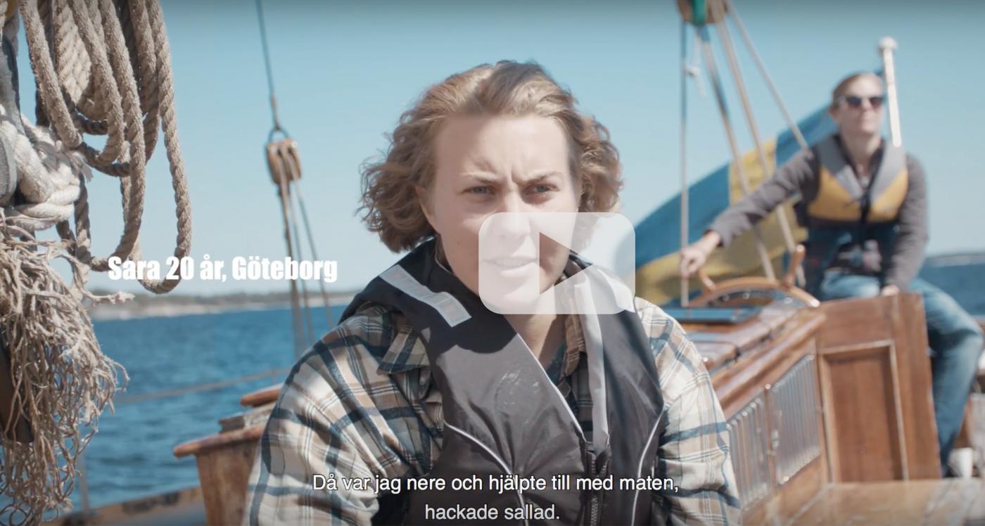 Sara om seglingen över Nordsjön