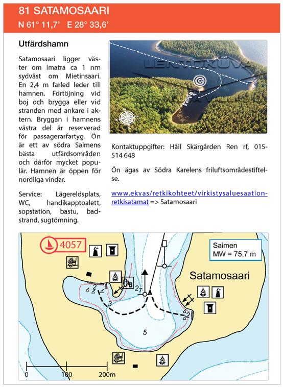 Satamosaari - exempel på hamn i årsboken 2019 från Svenska Kryssarklubben