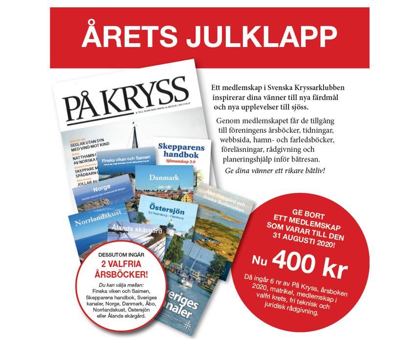 Julerbjudande på medlemskap från Svenska Kryssarklubben
