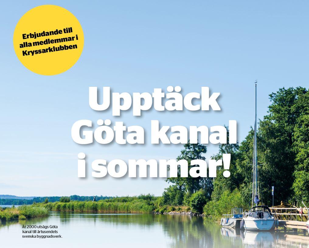 Göta kanal medlemserbjudande 2020