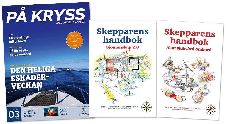 På Kryss och Svenska Kryssarklubbens årsböcker 2018, 2021