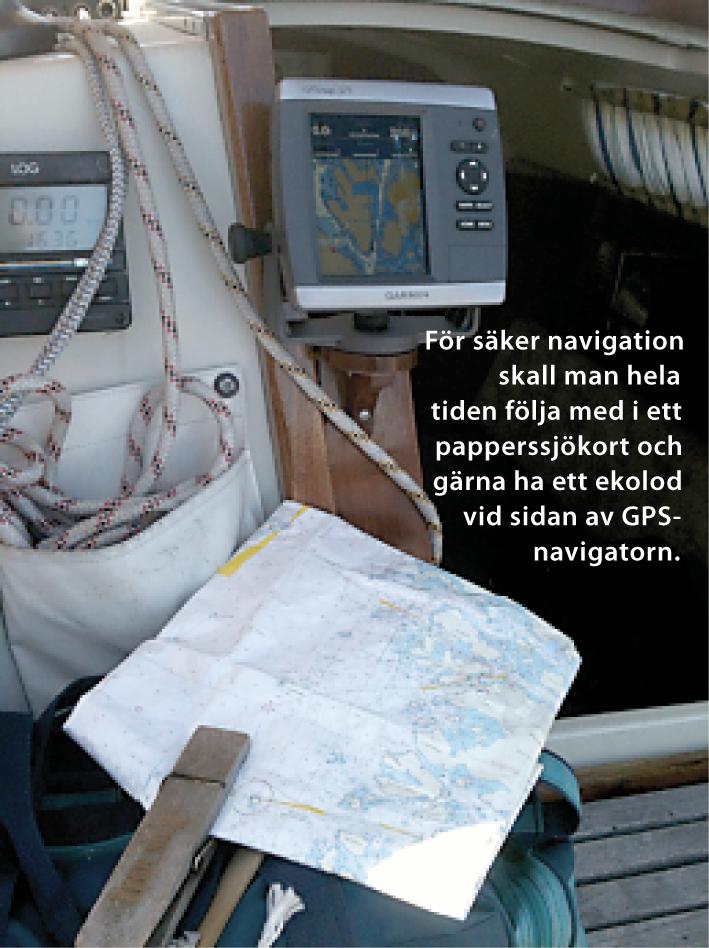 mäter distans till sjöss